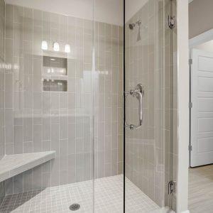 Glass shower in master bath